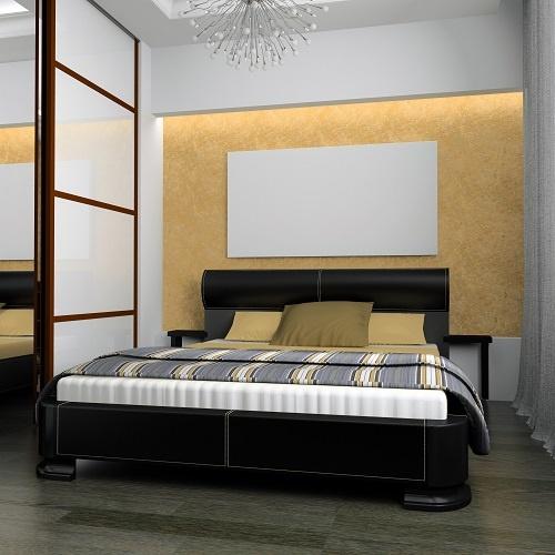 Schlafzimmer-Einrichtung: Betten, Kleinmöbel, Teppiche Und
