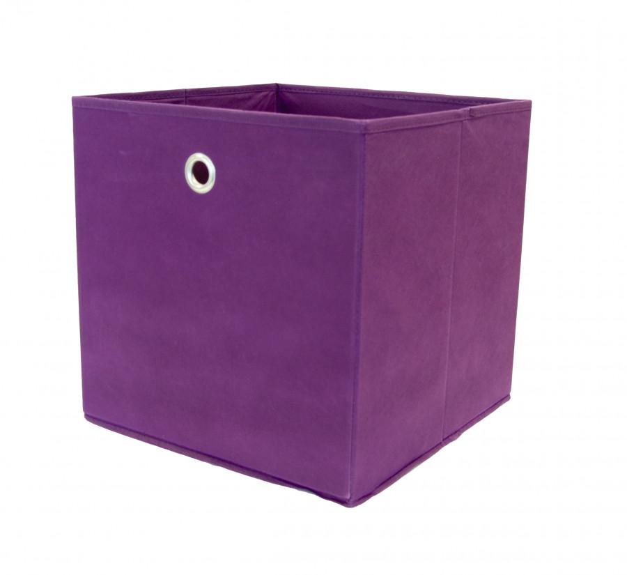 2er Set Faltbox, Farbe Brombeer